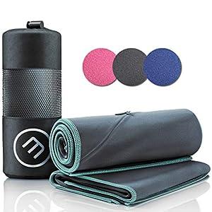 Mikrofaser Handtuch 2er Set: Schnelltrocknend, Kompakt, Leicht | Microfaser Microfiber Towel groß klein: Camping Fitness…