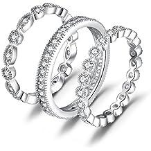 353133e8d1f6 JewelryPalace Anillo elegante de boda adornado Circonita en plata de ley 925