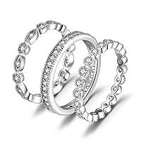 4bc61c645ed3fe JewelryPalace Moda 2.1ct Cubic Zirconia Fascia di Nozze Nuziali Parure 3  Anelli 925 Sterling Argento