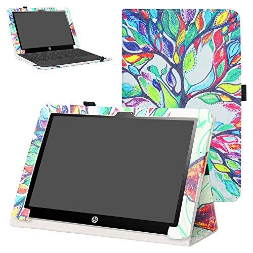 Mama Mouth Schutzhülle/Klappetui für HP X2 10 10-p010nr 10-p020nr 10-p092ms Tablet (PU-Leder, mit Standfunktion, für HP X2 10-p000nr Serie, Nicht für HP Pavilion x2 10 10-n000nr Serie), Love Tree