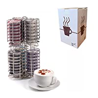 Neotechs® Tassimo 48 Piece Coffee Pod T-DISC Capsule Holder Dispenser Stainless Steel Bosch