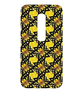 EPICCASE Yellow Flower Mobile Back Case Cover For Moto Play (Designer Case)