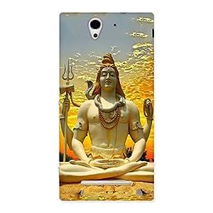 Impressive Shiva Samadhi Print Back Case Cover for Sony Xperia C3