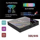 KiGoing TV Box Android 8.1, Smart Media Player H96 Max RK3328 HD Network Player 4GB 32GB\\64GB Set Top Box Remote Control Smart WIFI TV Box Tablet Media Player