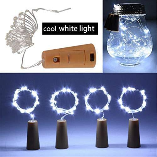 (unho Wein Flaschen Lichter, 20 LED 2m / 6.56ft Kupferdrahr Lichter Korken LED Lichterkette mit Batterie für Party Garten Hochzeit)