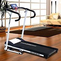 Preisvergleich für Motorisiertes Laufband 500W mit LCD-Display Elektrisches Fitnessgerät Klappbarer Heimtrainer