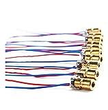 Mini Laser Dot Diode Module Head Laser Punkt 650 nm 6 mm 5 V 5 mW 10 Stück