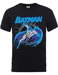 Mens T-shirt Black Medium DC Comics Batman Leap Original Justice League Official