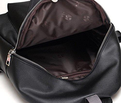 CHENGYANG Damen Casual Rucksack Elegant Daypack Schultertasche Großer Raum Reiserucksack Schwarz