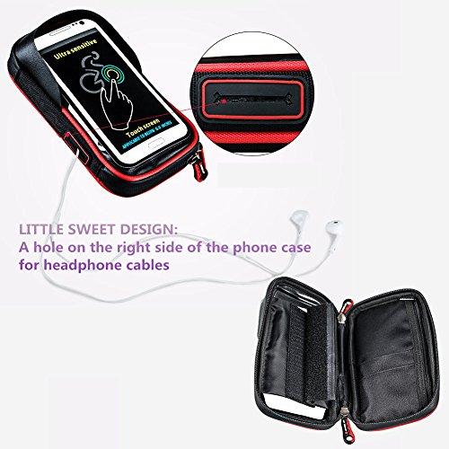 Wasserdichte Handy-Halterung für Fahrrad, pioneeryao 15,2cm Bildschirm Handy Halter Tasche mit Menge für Fahrrad Lenker blau