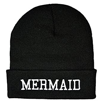 Twisted Mermaid Beanie Hat Geek Bonnet Ariel gothique emo