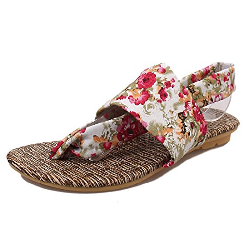 Koly_Estate Sandali Scarpe peep-toe Scarpe basse sandali romani signore infradito Rosso