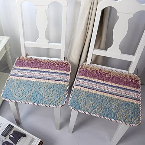 CLG-FLY idílico verano cojín silla fina antideslizante de tela de algodón resistente a manchas equipo Oficina silla de comedor,acerca del cojín 40x40cm (2