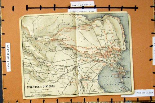 citta-1929-di-pianificazione-della-via-della-mappa-siracusa-dintorni-oporto