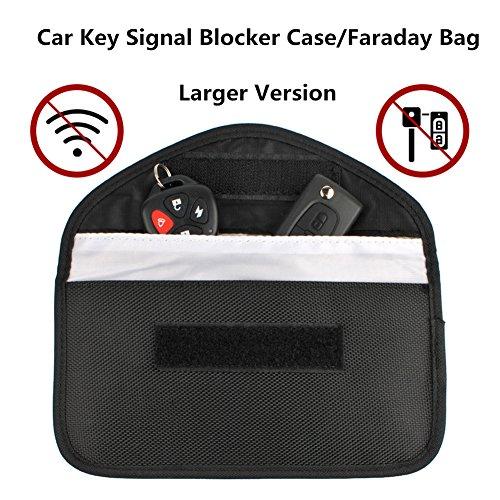 Keyless Go Schutz,Autoschlüssel Hülle,Autoschlüssel Rfid Schutz,Strahlenschutz Tasche(Schwarz) (Außerhalb Türschloss)