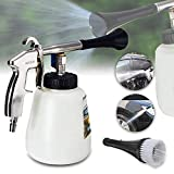 Gaddrt High Pressure Spray Car Cleaning Gun Tool Brush White