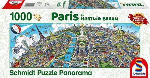 Schmidt Spiele Puzzle 59597Hartwig marrón, Ciudad de Paris, Puzzle de 1000Piezas, Multicolor