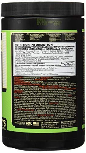 Optimum Nutrition Micronised Creatine Monohydrate- Kreatin-Monohydrat Pulver (hergestellt für Muskelaufbau von ON), Unflavoured, 176 Portionen, 634g - 3