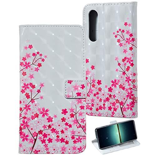 Leder Hülle kompatibel mit Huawei P30, Stand hülle Cover Brieftasche Case mit KunstLeder Handy mit Kartenfach Kredit Karten Geldklammer Hülle Etui im 3D Relief Muster Look für Huawei P30 Cover -