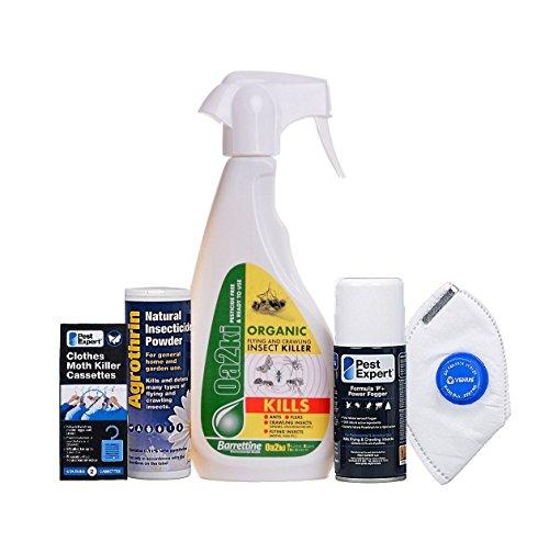 1 kit tue-mites de vêtements naturel et semi-organique de Pest Expert. Produit de qualité professionnelle.