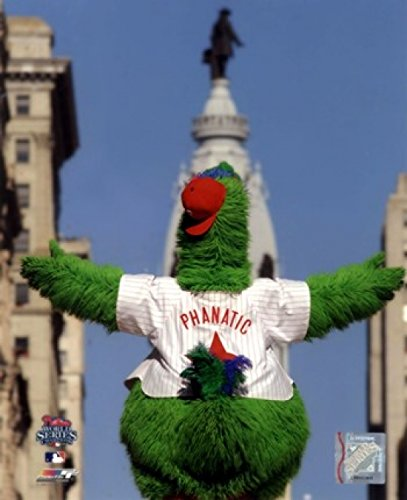 The Phillie Phanatic Mascot of The Philadelphia Phillies 2008 World Series Parade. Photo Print (27,94 x 35,56 cm)