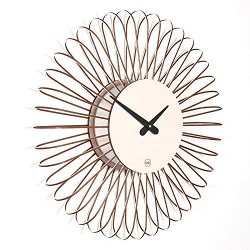 farbflut Design Wanduhr Circulo: große Moderne Wanduhr aus Holz   erhältlich in 5 Farben   lautlos, ohne Tick Geräusche für Wohnzimmer, Küche, Schlafzimmer, Flur und Büro (Weiß)