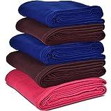 #10: Janak Plain Fleece Single Bed Blanket (Set of 5)