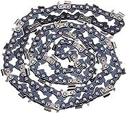 20 بوصة منشار بالمنشار سلسلة 76 روابط متعددة المشاهد مطحنة تمزيق سلسلة، 2 قطع/المجموعة مزودة بجزء علوي 0.325&q