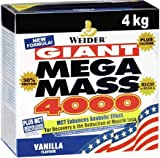Weider Mega Mass 2000, Kohlenhydrat-Proteinmischung - Geschmack: Erdbeeren, 1er Pack (1 x 4 kg)