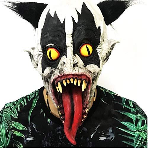 SUNYUM Halloween-Kostüm, eine Variation von gelbäugigen Augen Clown-Maske, Halloweenmaske, Latex-Clown-Maske mit Haaren, Party-Requisiten, ()