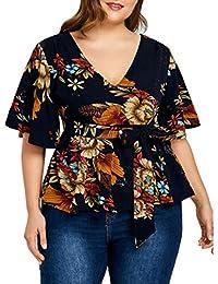 FAMILIZO Camisetas Mujer Manga Corta Gasa Camisetas Mujer Tallas Grandes Camisetas Mujer Verano Blusa Mujer Sport