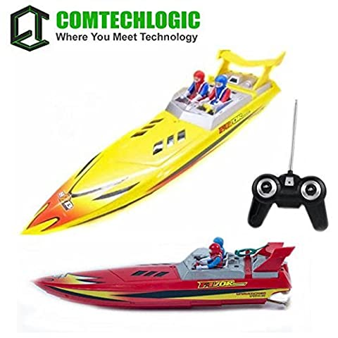Comtechlogic® CM-2186 Remote Radio Control RC Fast Racing Power Boat EP RTR - Red /Yellow (YELLOW)