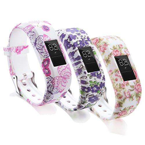 Ruentech Ersatzarmband für Garmin-Vivofit-jr.-Activity-Tracker, Uhrenarmband für Kinder-Fitness-Tracker Garmin Vivofit jr.(Tracker ist Nicht im Lieferumfang enthalten) (3-E)