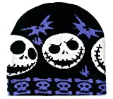 The Nightmare Before Christmas style Beanie Hat Jack Skellington Blueish Purple Bats Gothic Look