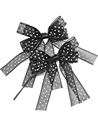 Black POLKA DOTS Punkte allover HAIRCLIPS Haarspange 1 Paar Rockabilly
