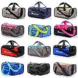 Borsa Palestra Borsone Viaggio Borse Piscina Sportiva Duffel Bag per Uomo Donna - 2 Taglie Borsa a Tracolla Spalla Weekend Campeggio Sport Fitness Nepr (20L, Arancione/Grigio)