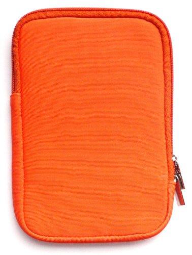Emartbuy® Orange Wasserabweisende Weiche Neopren Hülle Schutzhülle Sleeve Case mit Reißverschluss geeignet für Msi Windpad 100W Tablet (10-11 Zoll eReader/Tablet / Netbook)