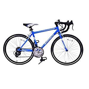 "51A9PTSYtIL. SS300  - Ammaco VELOCITY JUNIOR 14 SPEED RACING ROAD SPORTS BIKE 24"" WHEEL BLUE AGE 9+"