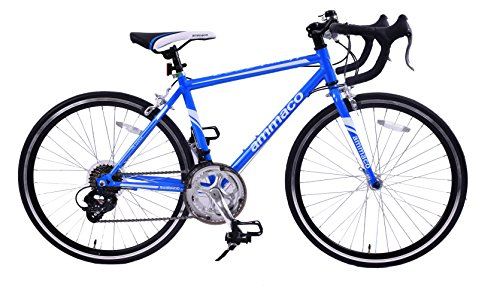 "51A9PTSYtIL - Ammaco VELOCITY JUNIOR 14 SPEED RACING ROAD SPORTS BIKE 24"" WHEEL BLUE AGE 9+"