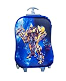 Di Grazia 3D Hardshell Travel Trolley Luggage Suitcase Bag, 6 Wheels School Bag For Kids