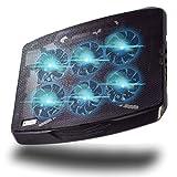 [ShadeFire] - Refroidisseur Ordinateur Portable Gamer Modèle CryoX6 - Puissance Extrême avec 6 Ventilateurs Peu Bruyant - Jusqu'à 17 pouces