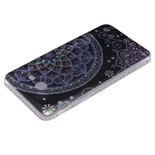 Bling Sparkle Glitter Rhinestone Resin Diamant Schützende Rückseite Cover Case Soft TPU Shell Stoßfänger [Shock Absorbtion] für Samsug Galaxy J5 2017 ( Color : B ) D