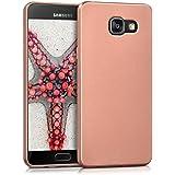 kwmobile Étui en TPU silicone élégant pour Samsung Galaxy A5 (2016) en or rose métallique