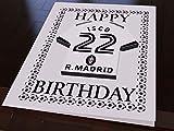 MyShirt123 La Liga–Karte Motiv: Spanisches Fußballmannschaftstrikot, Geburtstagskarte Real Madrid CF Football Team