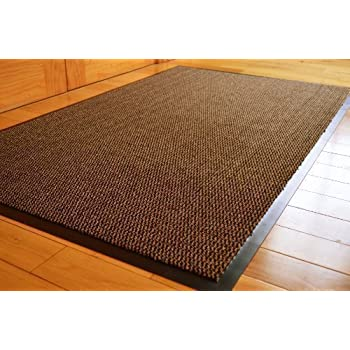 TrendMakers BIG EXTRA LARGE GREY AND BLACK BARRIER MAT RUBBER EDGED ...