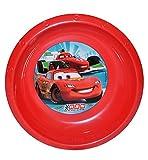 Unbekannt Suppenteller / Suppenschüssel / Müslischale - Kinderteller  Disney Auto Cars - Lightning McQueen  - aus Kunststoff / Plastikteller Plastik - Geschirr für Ki..