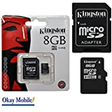 Okay Mobile Kingston Microsd Memory Card 8 Gb For Huawei P8 / P8 Lite - 8Gb
