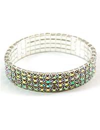 The Olivia Collection Super Sparkly Acrylic Set Elasticated Bracelet