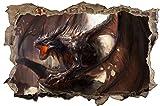 Drache Dragon Fantasy Feuer Wandtattoo Wandsticker Wandaufkleber D0889 Größe 40 cm x 60 cm