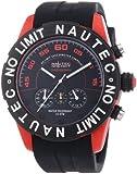 Nautec No Limit Herren-Armbanduhr XL Zero-Yon 2 Chronograph Quarz Kautschuk ZY2-H1 QZ/RBPCBKBK-RD